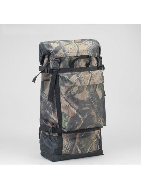 """Рюкзак туристический на стяжке шнурком """"Лес"""", 1 отдел, 3 наружных кармана, объём - 50л, цвет хаки"""