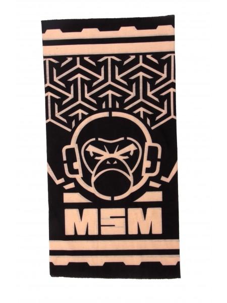 Шарф-маска орнамент angry monkey Black
