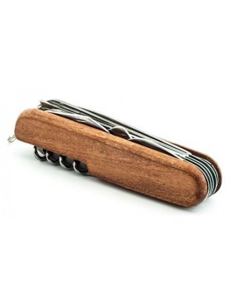 """Мультитул """"СЛЕДОПЫТ"""", 11 предметов, деревянная ручка"""