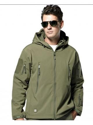 Куртка SOFT SHELL зеленая XL