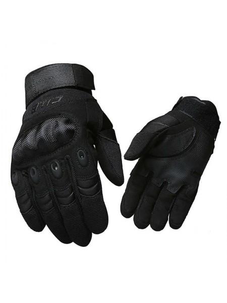 Перчатки CQB полнопалые с защитой котяшек Черные 3XL