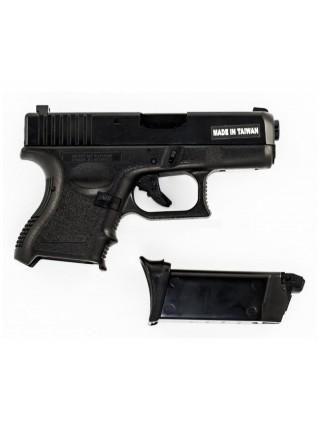ПИСТОЛЕТ ПНЕВМ. KJW GLOCK G27 GBB, черный, мет. слайд, модель - KJW-G27-MS