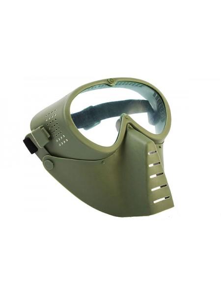 Маска защитная полнолицевая, с прозрачными линзами Green