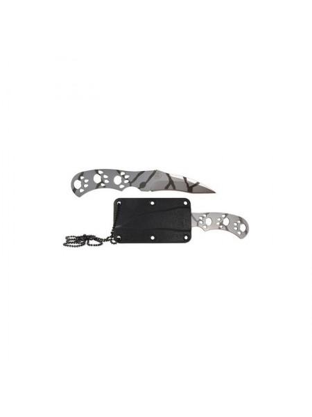 Нож специальный ВОЛЧОНОК керамбит камуфляж пластиковые ножны / Ножемир
