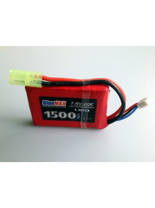 АКБ BlueMAX 7.4V Lipo 1500mAh 20C stick (PEQ/AN-15) 16x43x65mm AUG, MP40, М249 , ПКМ , приклад весло