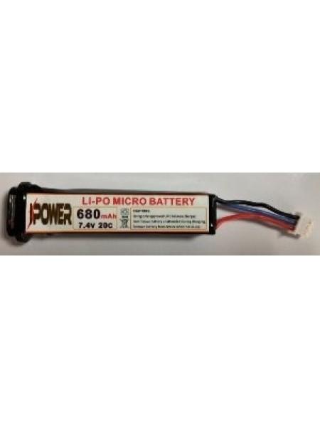АКБ IPower 680mAh 7.4V AEP (для электропистолетов) NEW