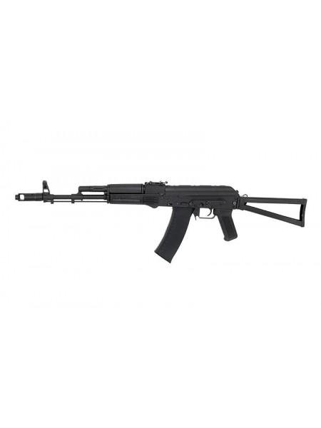 АВТОМАТ ПНЕВМ. CYMA AKС-74, AEG, металл, пластик, складной рамочный приклад, ЗУ, АКБ - CM040