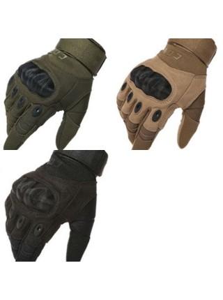 Перчатки CQB полнопалые с защитой котяшек Олива XL