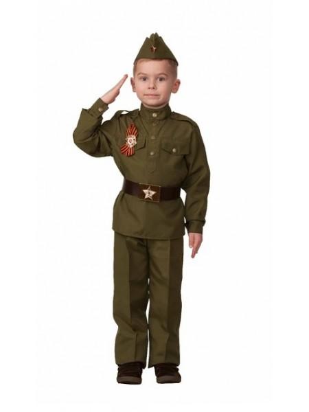 Карнавальный костюм «Солдат», текстиль, р 38 рост 152 (Батик)
