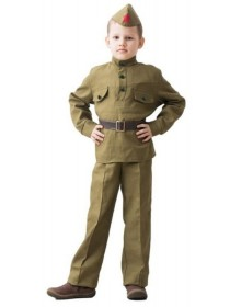 """Костюм """"Солдат"""" (брюки, гимнастерка, ремень, пилотка) 5-7 лет рост 122-124"""