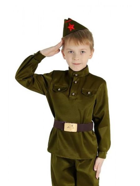 """Набор """"Военного"""" (гимнастерка, ремень, пилотка) рост 104"""