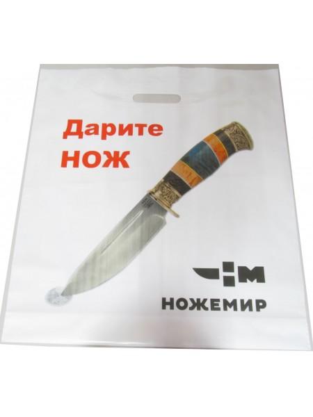Пакет 45x50+4, 70мкм,белый, печать 4+0 / Ножемир Россия