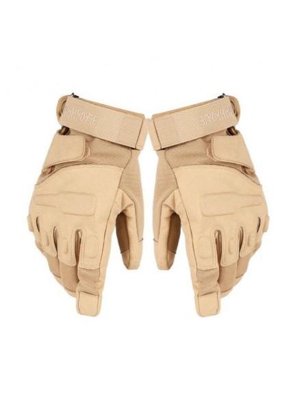 Перчатки Black Hawk мягкая зашита костяшек ПП тан L