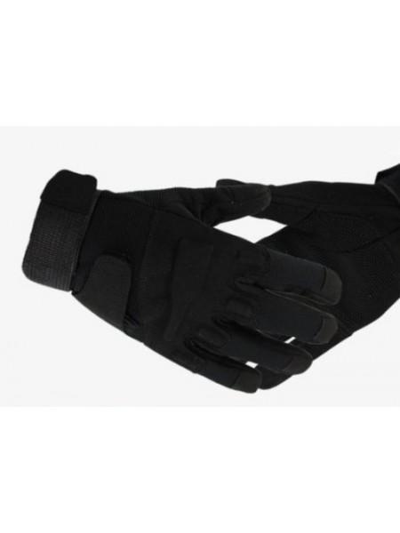 Перчатки мягкая защита костяшек утепленные черные M