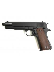 ПИСТОЛЕТ ПНЕВМ. KJW COLT M1911A1 GBB, GAS, черный, металл, ствол с резьбой 1911-TBC.GAS