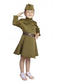 Карнавальный костюм, платье, пилотка, ремень, 3-5 лет рост 104-116 (БОКА)